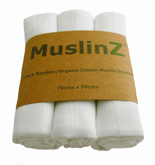 Natural Muslinz Bamboo/cotton Squares