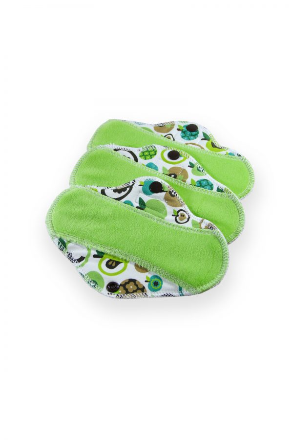 3 pack apple green reusable panty liners
